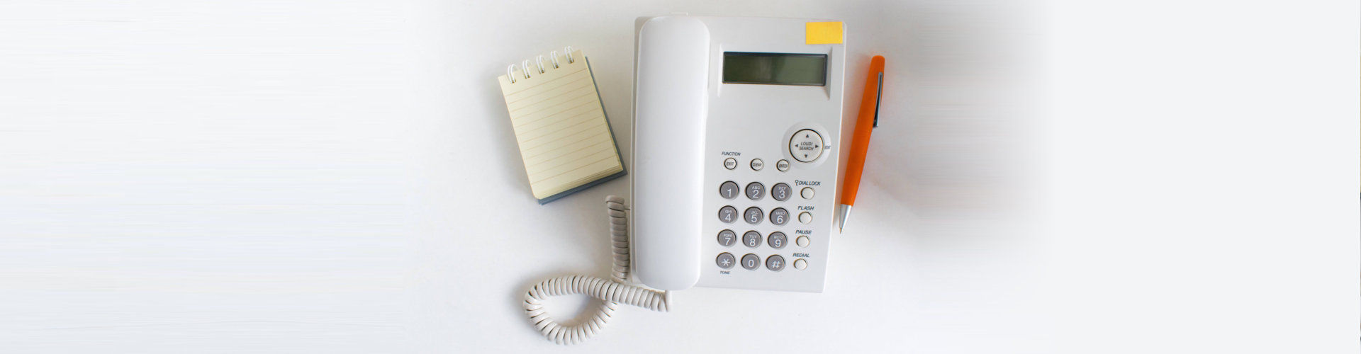 notepad, telephone, pen